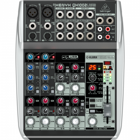 Behringer Xenyx QX1002USB Mixer with USB and Effects