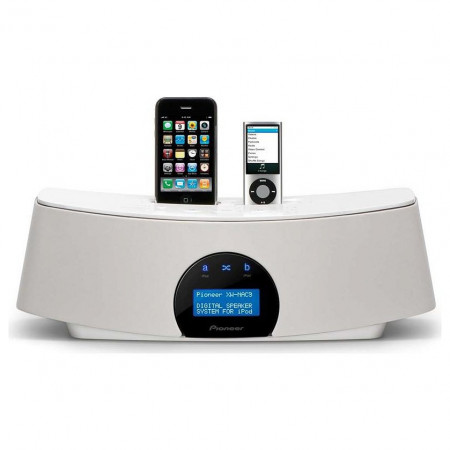 Pioneer XW-NAC3-W double dock for iPod & iPhone, white