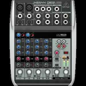Behringer XENYX Q802USB 8-Input 2-Bus Mixer