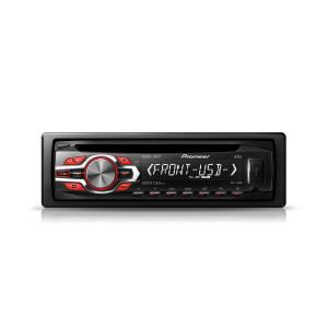 Pioneer DEH-140UB CD/AUX/USB receiver, red